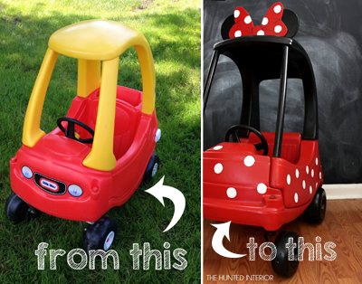 how to make a mickey mouse cozy coupe