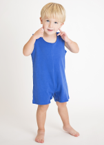 Royal Blue Knit Boys Shortall