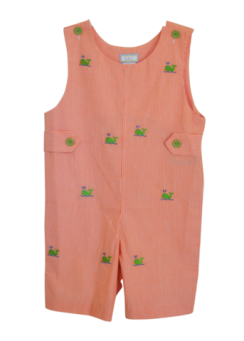 Orange Overall with Green Whales