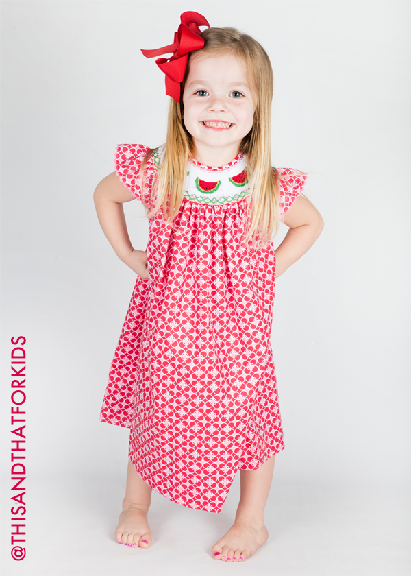 1f398006e Watermelon Costume Kid   This And That For Kids Hand Smocked Red And ...
