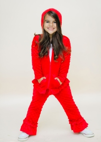 Girls Red Holiday Track Suit Sweater and Pants