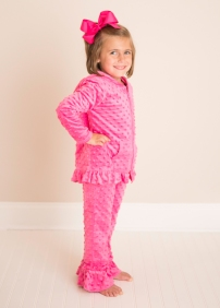 Girls Pink Holiday Track Suit Sweater and Pants