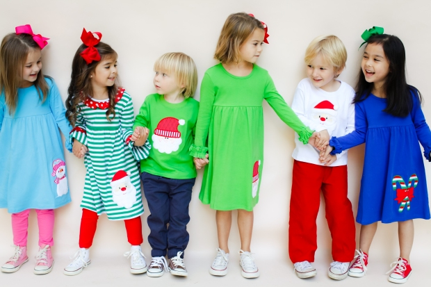 Holiday Knit Applique Outfits for Kids